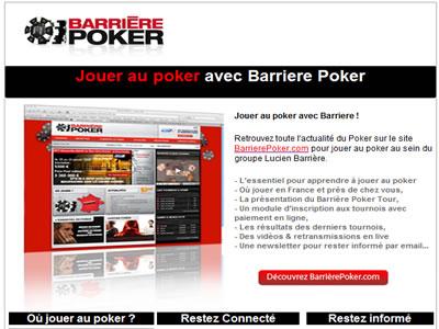 Logiciel Barrière Poker