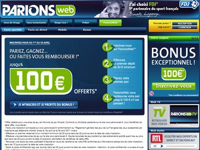 Site ParionsWeb